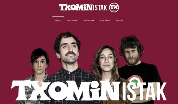 Txoministak alderdiak webgunea ireki du: Txoministak.eus