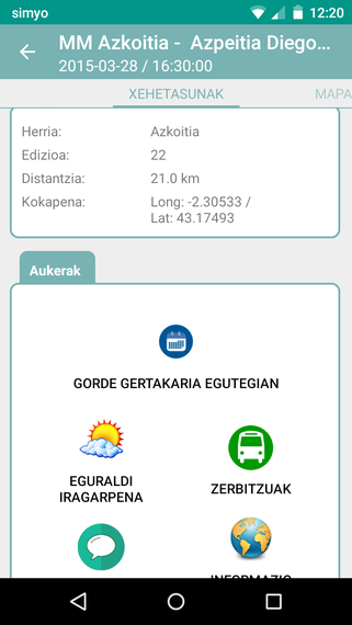 ServiRace, lasterketen inguruko informazio guztia eskura Android gailuetan