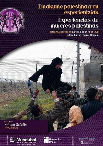 Emakume palestinarren esperientziak, Khitam Saafin-en hitzaldia