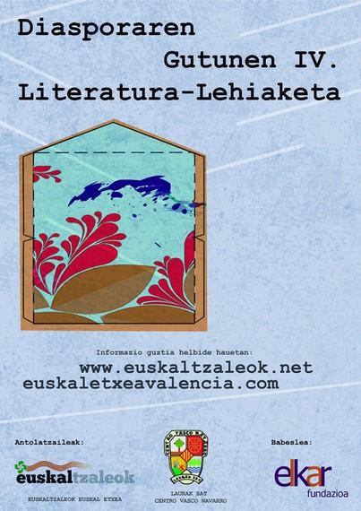 Diasporaren Gutunen IV. literatura lehiaketa