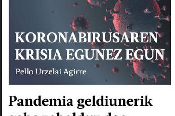 Koronabirusari buruzko e-posta buletina sortu du Berriak