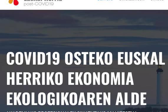 Euskal Herria post-COVID19: manifestu ekologista bat
