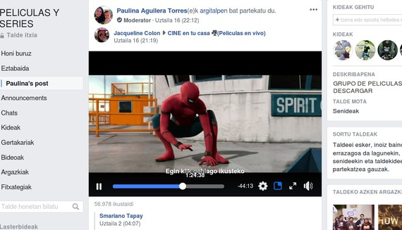 spiderman facebook