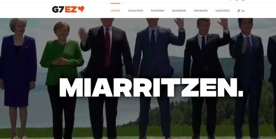 Hilabete falta da G7 hasteko Biarritzen