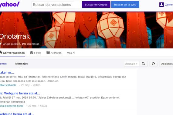Yahoo Groups ia itxita geratuko da datorren astean