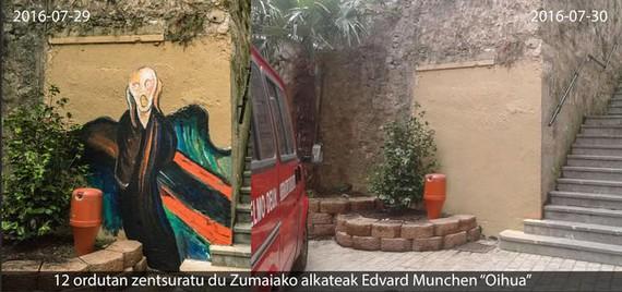 Edvard Munchek ezin du oihurik egin Zumaian
