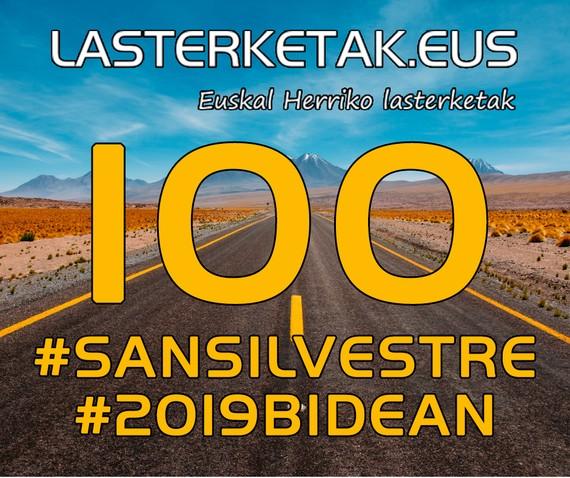 116 San Silbestre ospatu dira Hego Euskal Herrian, Lasterketak.eus atarian jaso dugunaren arabera