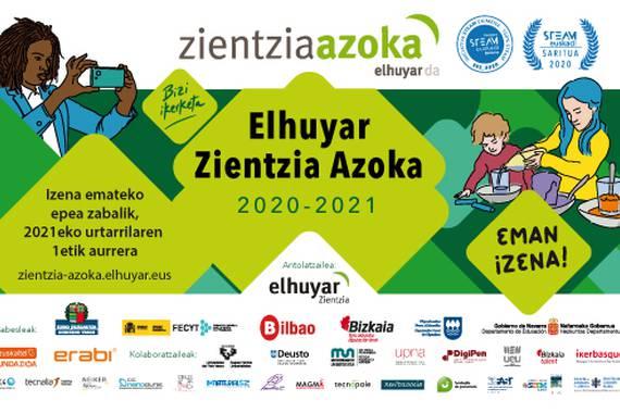 Elhuyar Zientzia Azoka 2020-2021: izen-ematea zabalik