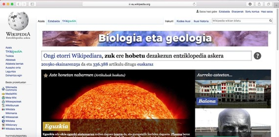 Euskarazko Wikipedia edukietan eta kalitatean jauzia egiten ari da