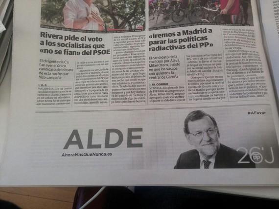 PPren kanpaina  ofiziala euskaraz: Alde Rajoy, alde...