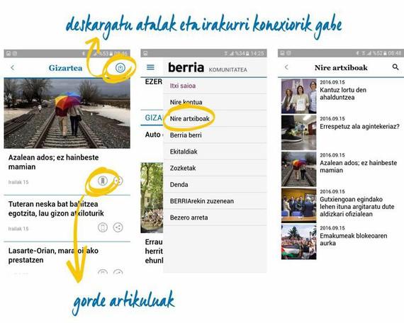 Aplikazio mugikorra kaleratu du Berriak