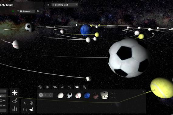 Universe Sandbox, simulazio fisikoak eskala planetarioan