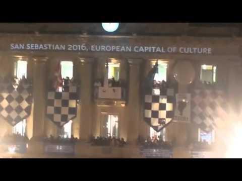Europako ereserkiari txistuak Donostiako Danborradan