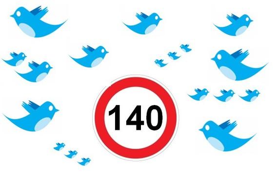 Twitterren 140 karaktereak