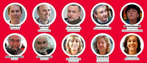 Nafarroako gobernu berriak izango dituen kontseilariak