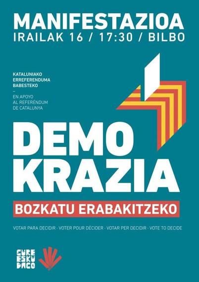 Kataluniako erreferenduma babesteko, mobilizaziora deitu du Gure Esku Dago-k
