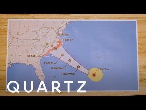 Nola ulertu behar dugu urakan baten ibilbidearen iragarpen-mapa?