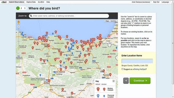 #eBird: hegazti-behaketen datu-base mundiala