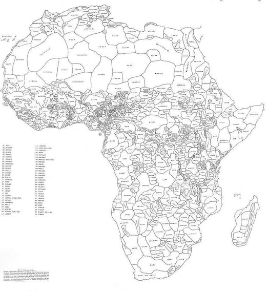 Horrelakoa litzateke Afrika hizkuntzen eta tribuen arabera marraztuko bagenu. #muganaturalak