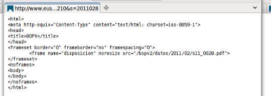 EHAA (BOPV) hobetzen ari dira: Orain PDFa Internet Explorerekin bakarrik deskargatu daiteke