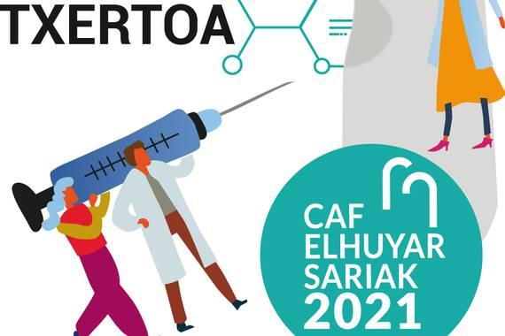 CAF-Elhuyar Sariak 2021 aurkeztu dira, bi sormen-bekarekin batera