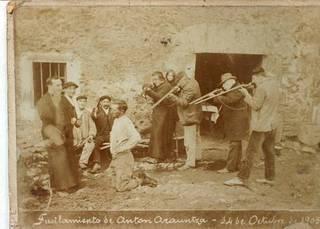 Anton Arauntzaren ustezko fusilamendua, Azpeitia, 1905