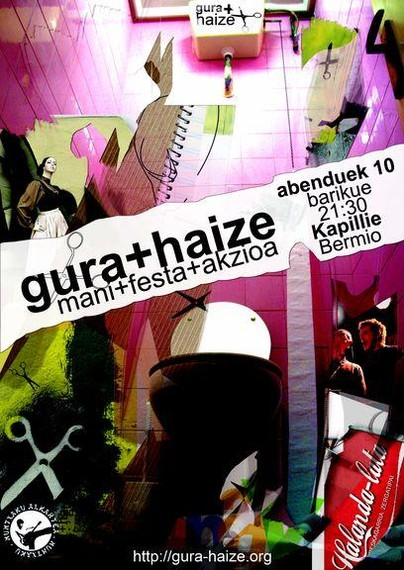 gura+haize fanzinearen mani+festa+akzioa