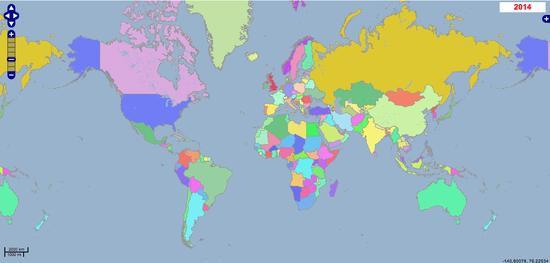 Geacron, 5.000 urte atzera begiratzen duen munduko mapa geopolitikoa