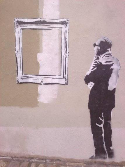 Banksy posible bat Donostian: 3.000 euro arteko isuna dagokio egileari