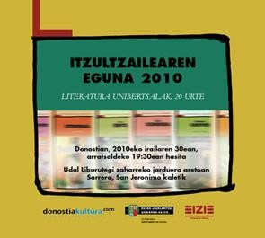 """Itzultzailearen eguna 2010 - """"Literatura Unibertsalak, 20 urte"""""""