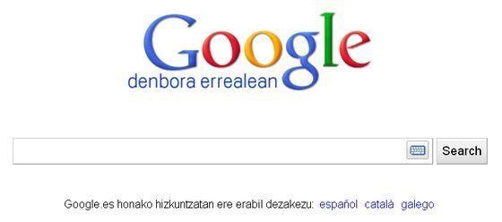 Google Denbora Errealean euskaraz, baina erdaraz baino murritzago