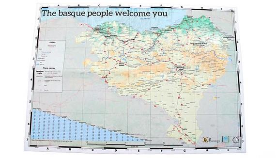 Euskal Herriko mapa turistikoa egin du Gaindegiak