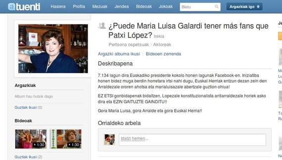 Lortuko ditu Maria Luisa Galardik Patxi Lopezek baino zale gehiago?