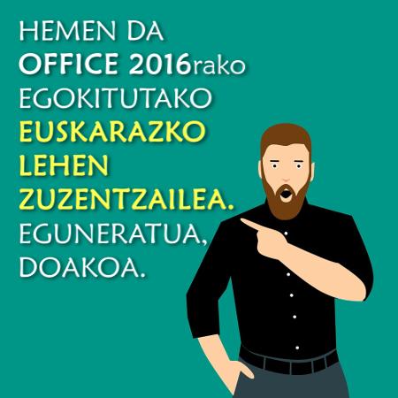 Microsoft Officeren bertsio berrienarentzat egokitutako euskarazko lehen zuzentzaile automatikoa, Hobelex