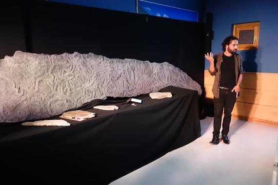Gipuzkoako Geoparkeko flyschean aurkitu den aztarna fosil ikusgarri baten erreplika zehatza egin da
