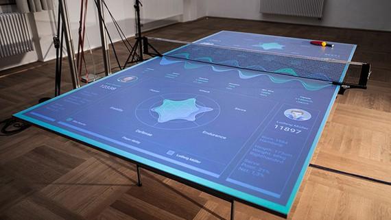 Ping-pong mahai interaktiboa, estatistikak jaso eta jokoa hobetzeko