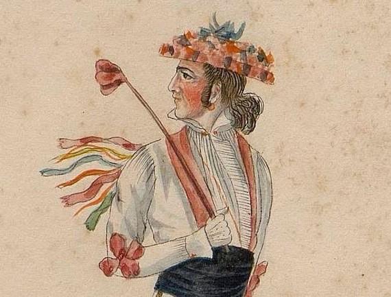 1828. urteko euskal jantzien eta dantzarien akuarelak