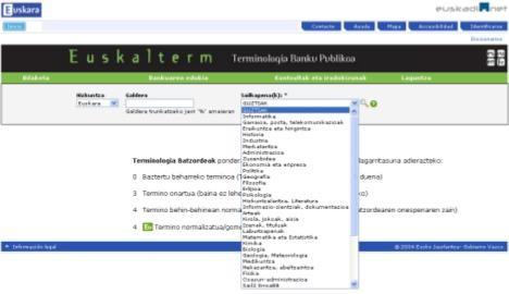 Euskalterm terminologia banku publikoaren bertsio berritua