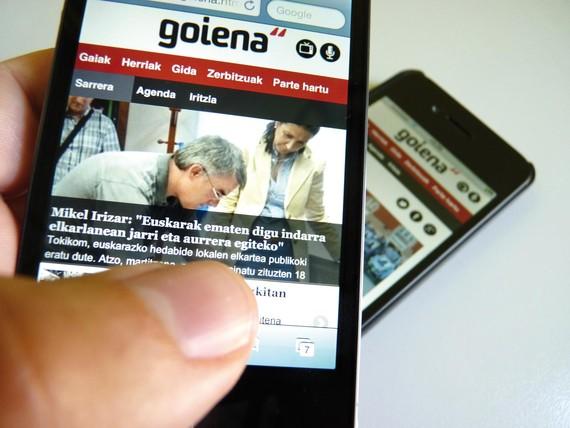 Informazioa eta partehartzea, smartphone-etarako Goiena aplikazioan