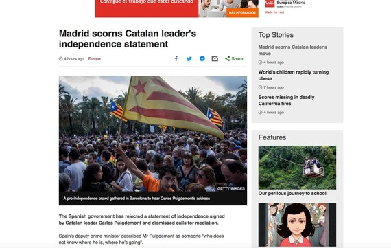 Rajoyk Puigdemonti galdegin dio argitu dezan independentzia aldarrikatu duen ala ez