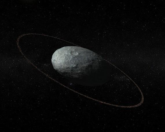 Haumea planeta nanoak eraztuna dauka