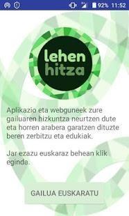"""Jaitsi """"LehenHitza"""" aplikazioa, eta konfiguratu mugikorra euskaraz!"""