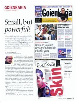 Goienkaria: eredu berritzailea Europako prentsa diseinu arloan