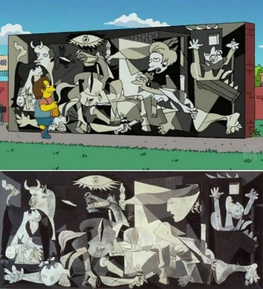 Picassoren Gernika, Simpsondarren kapitulu batean