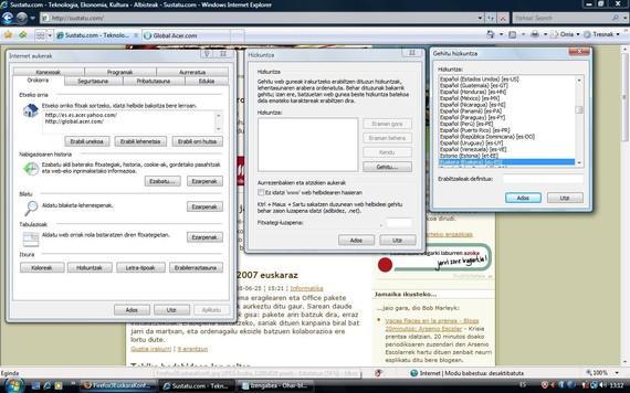 Internet Explorer euskaraz: nabigazio-hizkuntza ere konfiguratu mesedez