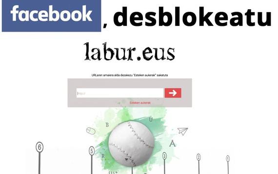 Lagunduko diguzu Facebooki eskatzen Labur.eus desblokeatu dezala?