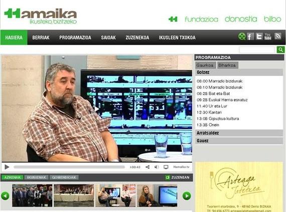 Albistea: Hamaika Telebistak web orri berritua aur
