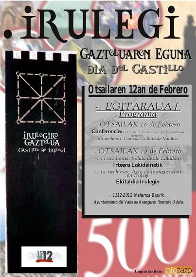 Irulegi Gazteluko mugarriaren aurkezpen ekitaldia (2012ko otsailaren 12an)
