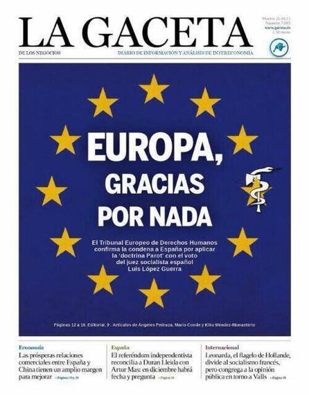 Europa osoa ETA da La Gacetarentzat