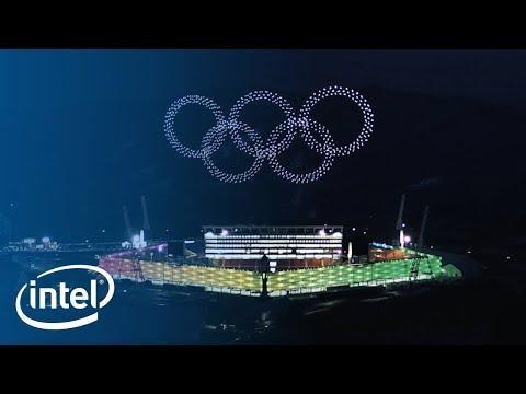 1.200 drone elkarrekin modu koordinatuan hegan, Koreako Olinpiar Jokoetan